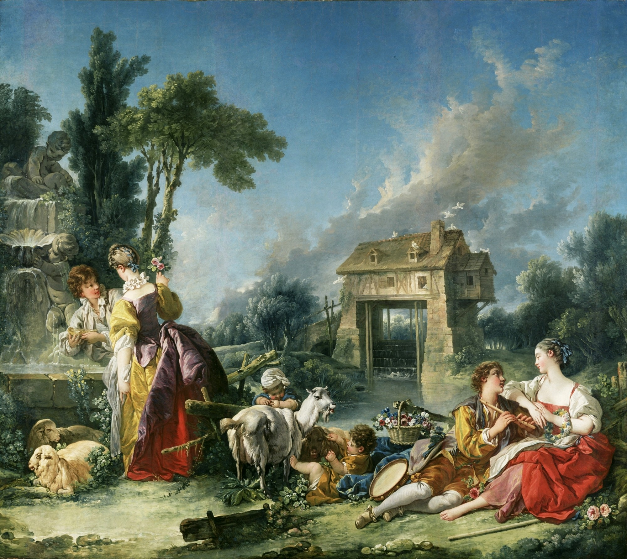 Les Nobles Pastorales - The Fountain of Love, 1748 Francois Boucher